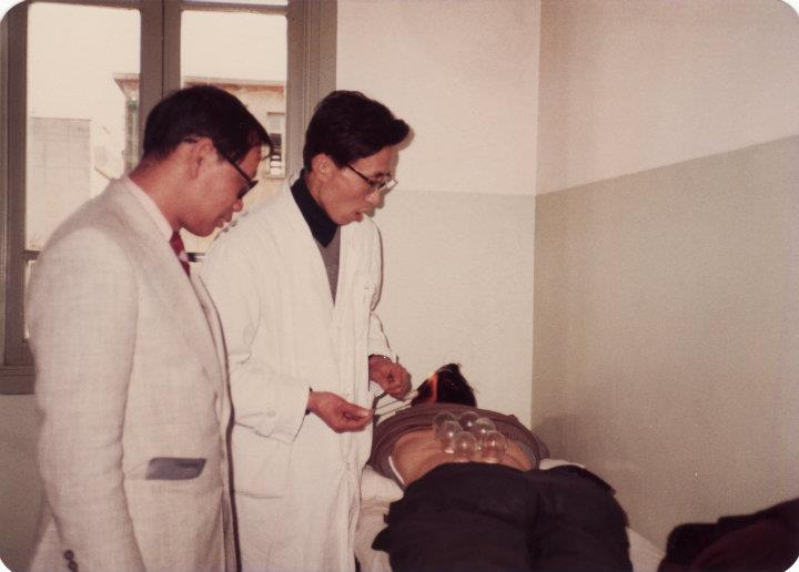 Dr T T Ang visited a hospital in China